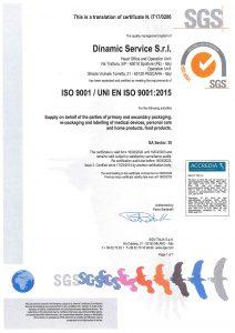certificazione iso 2015